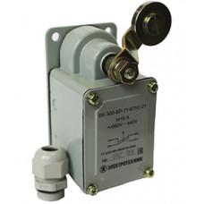 Выключатель концевой ВК-300-БР-11-67У2-21, рычаг с роликом, с сальником, ход вправо, cамовозврат, ступень 2- 51мм, IP67