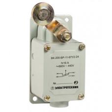 Выключатель концевой ВК-200-БР-11-67У2-22, рычаг с роликом, без сальника, ход влево, cамовозврат, ступень 2- 51мм, IP67