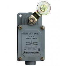 Выключатель концевой ВК-200-БР-11-67У2-21, рычаг с роликом, без сальника, ход вправо, cамовозврат, ступень 2- 51мм, IP67