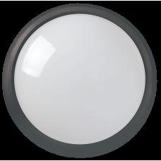 Светильник светодиодный ДПО 3011 8Вт 4500K IP54 круг пластик черный IEK (LDPO0-3011-8-4500-K01)