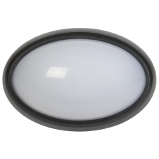 Светильник светодиодный ДПО 3021 8Вт 4500K IP54 овал пластик черный IEK (LDPO0-3021-8-4500-K01)