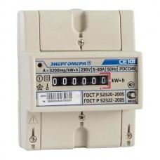 Счетчик электроэнергии CE101 R5 145 M6 однофазный однотарифный, 5(60), кл.точ. 1.0, D, ЭМОУ (101001003007791)